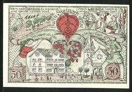 Notgeld Steinach, 50 Pfennig, Kirchplatz Und Stadtwappen - [11] Local Banknote Issues