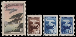 Russia / Sowjetunion 1955 - Mi-Nr. 1760-1762 A & C ** - MNH - Flugzeuge - Unused Stamps