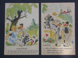 Ref5996 CPAx2 Humour Stratégie Et Envie Coquines - Coll. Humoristique N°207 & 227 - A. Noyer Paris - Humour