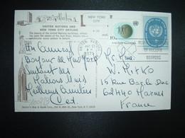 CP Pour La FRANCE TP 8c + TP 10c OBL.MEC.MAY 27 1975 UNITED NATIONS NEW YORK - New-York - Siège De L'ONU