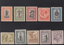 PAPUA 1932 FULL SET 16 VALUES SG 130/145 VERY FINE EXTRA LIGHT MINT  CV £ 590 - Papúa Nueva Guinea