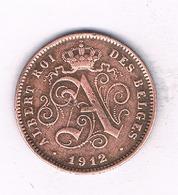 2 CENTIMES 1912 FR BELGIE /3126/ - 1909-1934: Albert I