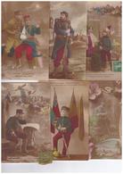 Lot 16 Cpa Cartes Patriotiques Avec Correspondance Guerre 1914 1918 Militaire Carte Patriotique Drapeau Poilu Soldat - Patriotiques