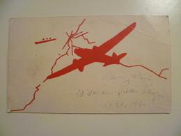 CPA / Carte Postale Ancienne  / 20e Anniversaire Paris Saigon AIR FRANCE 1950 - Aviation