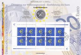Wgd_ Deutschland - Numisblatt 1/2002 - 10 Euro - Einführung Des Euro - Originalverpackung - [10] Commemorative