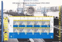 Wgd_ Deutschland - Numisblatt 2/2002 - 10 Euro - 100 Jahre U-Bahn In Deutschland - Originalverpackung - [10] Commemorative