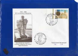 ##(DAN204)-1995-S.Giorgio Su Legnano, 50°della Liberazione, Annullo Speciale Su Busta Commemorativa-tema Resistenza - 6. 1946-.. Repubblica