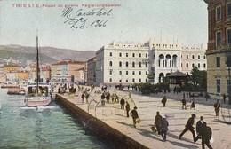 TRIESTE-PIAZZA DEL GOVERNO-CARTOLINA VIAGGIATA IL 14-4-1911 - Trieste (Triest)
