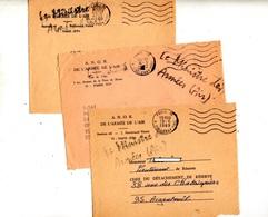 Devant De Lettre Franchise Flamme Muette  Paris 15 + Ministre Des Armees - Mechanical Postmarks (Advertisement)