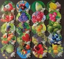 20 KRD Schweiz - Früchte   - 6202 - Riegel - Milk Tops (Milk Lids)