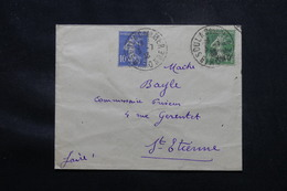 FRANCE - Enveloppe De Soulac/ Mer En 1933, Affranchissement Semeuse Et Semeuse Caisse D'Amortissement - L 59020 - 1921-1960: Modern Tijdperk