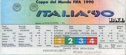 53644 Italia, Football World Cup FIFA 1990 TICKET  Billet, Verona, Stadio Bentegodi  12.6.1990 - 1990 – Italië
