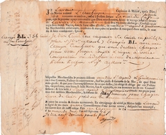 """1776 LE CAP (St Domingue)-MARSEILLE - Navire """"L'Aamhiope"""" - 356 Peaux De Cuirs Avec Poils Et Marquées Au Feu - Documents Historiques"""