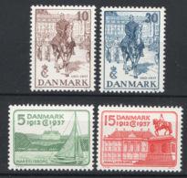 Danimarca 1937 Unif. 249/52 **/MNH VF - 1913-47 (Christian X)