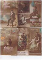 Lot 16 Cpa Cartes Patriotiques Avec Correspondance Guerre 1914 1918 Militaire Carte Patriotique Femme Poilu Soldat - Patriotiques