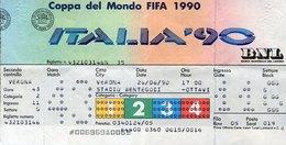 53646 Italia, Football World Cup FIFA 1990 TICKET  Billet, Verona, Stadio Bentegodi  26.6.1990 - 1990 – Italië