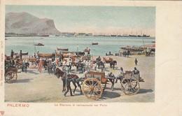 PALERMO-LA STAZIONE DI CARICAMENTO NEL PORTO-CARTOLINA NON VIAGGIATA-ANNO 1900-1904 - Palermo