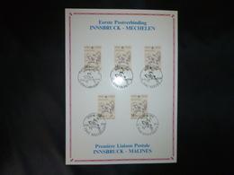 "BELG.1990 2350 Philatelic Card : "" Postverbinding Innsbruck-Malines Liason Postale 1490-1990 "" - FDC"