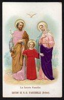 Santino/holy Card - LA SACRA FAMIGLIA - E - PR - Mm. 70 X 110 - Cromolito Groffata (rilievo) - E - RB - Ed. D'AIGUEBELLE - Religion & Esotérisme