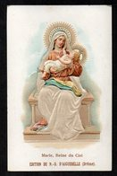 Santino/holy Card - MARIA,REGINA DEL CIELO -E-PR- Mm. 70 X 110 - Cromolito Groffata (rilievo) -E - RB - Ed. D'AIGUEBELLE - Religion &  Esoterik