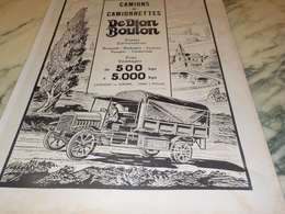 ANCIENNE PUBLICITE CAMION  DEDION BOUTON  1924 - Trucks