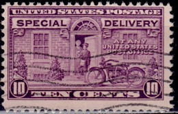 United States, 1927, Special Delivery, Postman And Motorcycle, 10c, Sc#E15, Used - Special Delivery, Registration & Certified