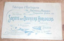 Société Des Ouvriers Horlogers-Fabrique D'Horlogerie Bronzes & Marbres, Composition, Albâtre, Etc… - Andere