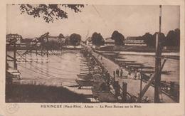 HUNINGUE, Le Pont-bateau Sur Le Rhin - Kuntz Sans N° - Huningue