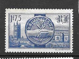 1938 - Visite Souverains Britaniques -  YT 400 - NSG - Nuovi