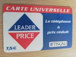 FRANCE/FRANKRIJK   TISCALI  7,5€     PREPAID  USED    ** 1494** - Nachladekarten (Handy/SIM)