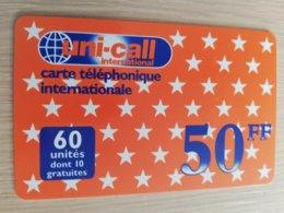 FRANCE/FRANKRIJK   UNICALL 50 FF    PREPAID  USED    ** 1495** - Nachladekarten (Handy/SIM)