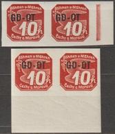 5/ Bohemia & Moravia; Matter Stamps ** Nr. OT 1 - Border Pairs - Ongebruikt