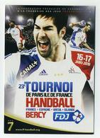 CP Pub Neuve - 23ème Tournoi De Handball - Ile De France - Paris Bercy 2010 - Nicolas Karabatic - Canal+ Adidas FDJ - Pallamano