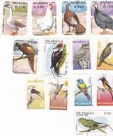 NICARAGUA - 13 Valeurs Oiseaux - Collections, Lots & Séries