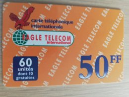 FRANCE/FRANKRIJK  EAGLE TELECOM 50FF  PREPAID  USED    ** 1499** - Nachladekarten (Handy/SIM)