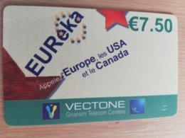 FRANCE/FRANKRIJK  EUREKA € 7,50 PREPAID  USED    ** 1500** - Nachladekarten (Handy/SIM)