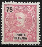 Ponta Delgada – 1897 King Carlos 75 Réis - Ponta Delgada