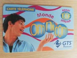 FRANCE/FRANKRIJK  OMNICOM 100FF PREPAID  USED    ** 1502** - Nachladekarten (Handy/SIM)