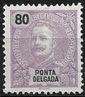Ponta Delgada – 1897 King Carlos 80 Réis - Ponta Delgada