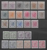AUTRICHE - YVERT N° 81/94 + 81a//94a (SAUF 84a) * MLH - COTE = 660 EUR. - Unused Stamps