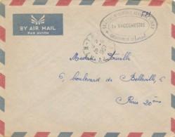 """Cachet """" SECTEUR DE DEFENSE AERIENNE I / 903 Détachement De SURCOUF """" CàD """" AIN-TAYA ALGER 20/6/57 """" Algérie - Algérie (1924-1962)"""