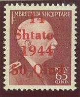 ITALIA - OCC. TEDESCA ALBANIA SASS. 9h NUOVO - Occ. Allemande: Albanie