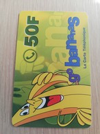 FRANCE/FRANKRIJK  BANANAS 50FF PREPAID  USED    ** 1503** - Nachladekarten (Handy/SIM)