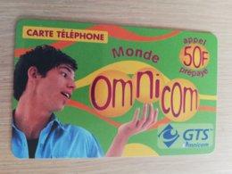 FRANCE/FRANKRIJK  OMNICOM GTS 50FF PREPAID  USED    ** 1504** - Nachladekarten (Handy/SIM)