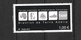 2018 - District Terre Adelie -  YT 868 - MNH ** - Terres Australes Et Antarctiques Françaises (TAAF)