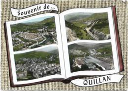 D10 - QUILLAN - VUE GENERALE/CITES CAZENOVE ET BELLEVUE/USINE FORMICA-Forme D'un Livre-SOUVENIR DE ... QUILLAN - Autres Communes