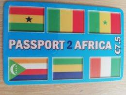 FRANCE/FRANKRIJK  PASPORT 2 AFRICA € 7,5 PREPAID  USED    ** 1506** - Nachladekarten (Handy/SIM)