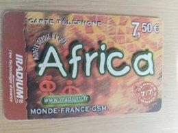FRANCE/FRANKRIJK   AFRICA € 7,5 PREPAID  USED    ** 1507** - Nachladekarten (Handy/SIM)