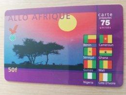 FRANCE/FRANKRIJK  ALLO   AFRICA  75 UNITS PREPAID  USED    ** 1508** - Nachladekarten (Handy/SIM)