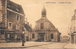 45    Gien      La Place & L'église St-louis - Gien